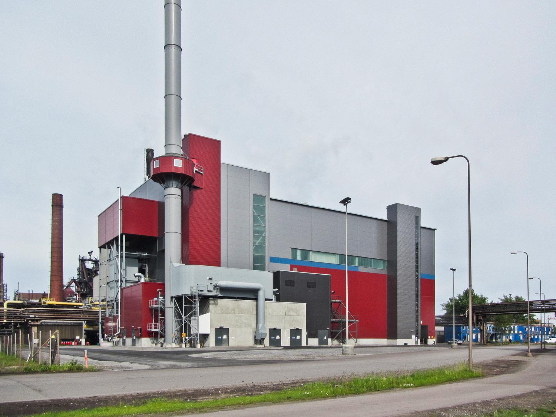 Raahen voiman kaasuvoimalaitos ulkonäkymä