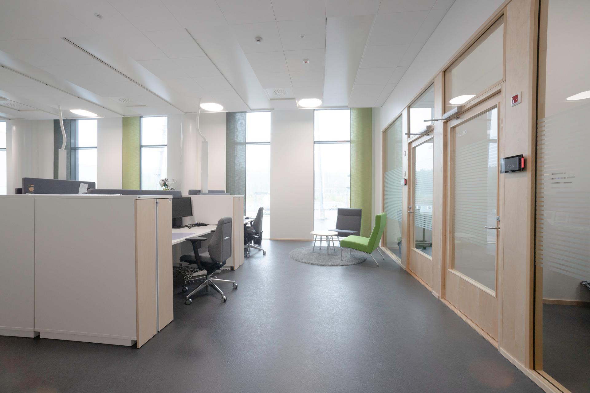Metsä group toimistotilat, näkymä sisältä