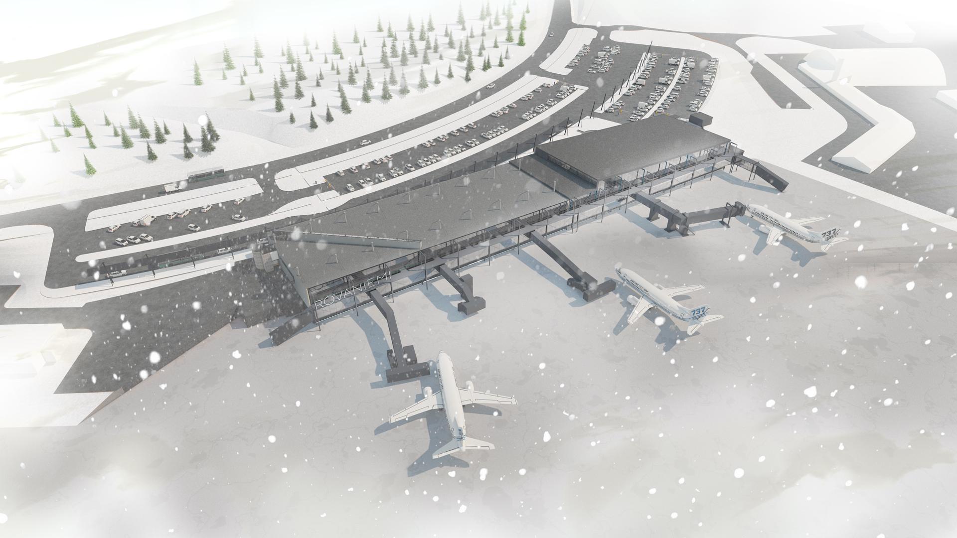 Rovaniemen lentokenttä, havainnekuva