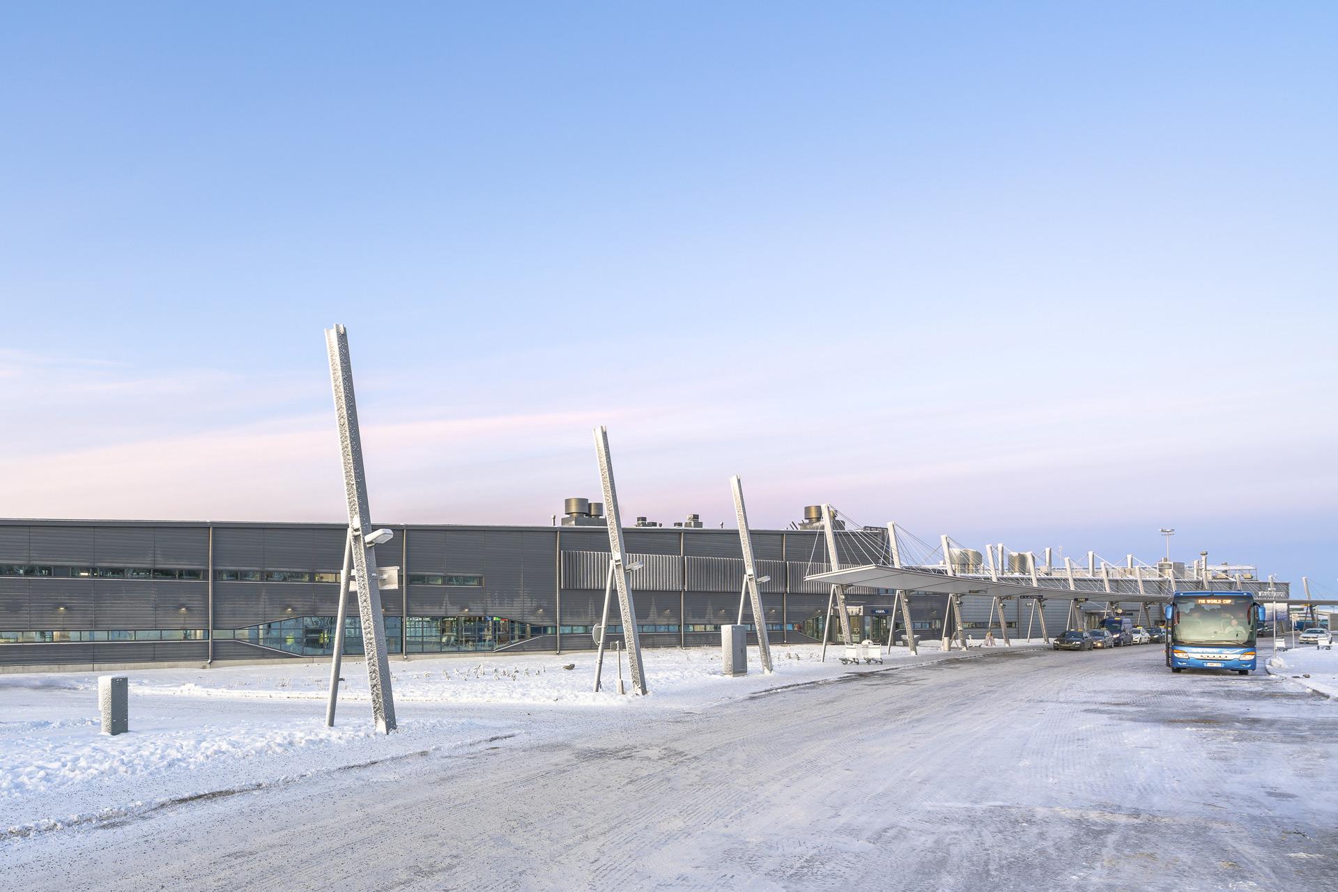 Rovaniemen lentoasema, ulkonäkymä