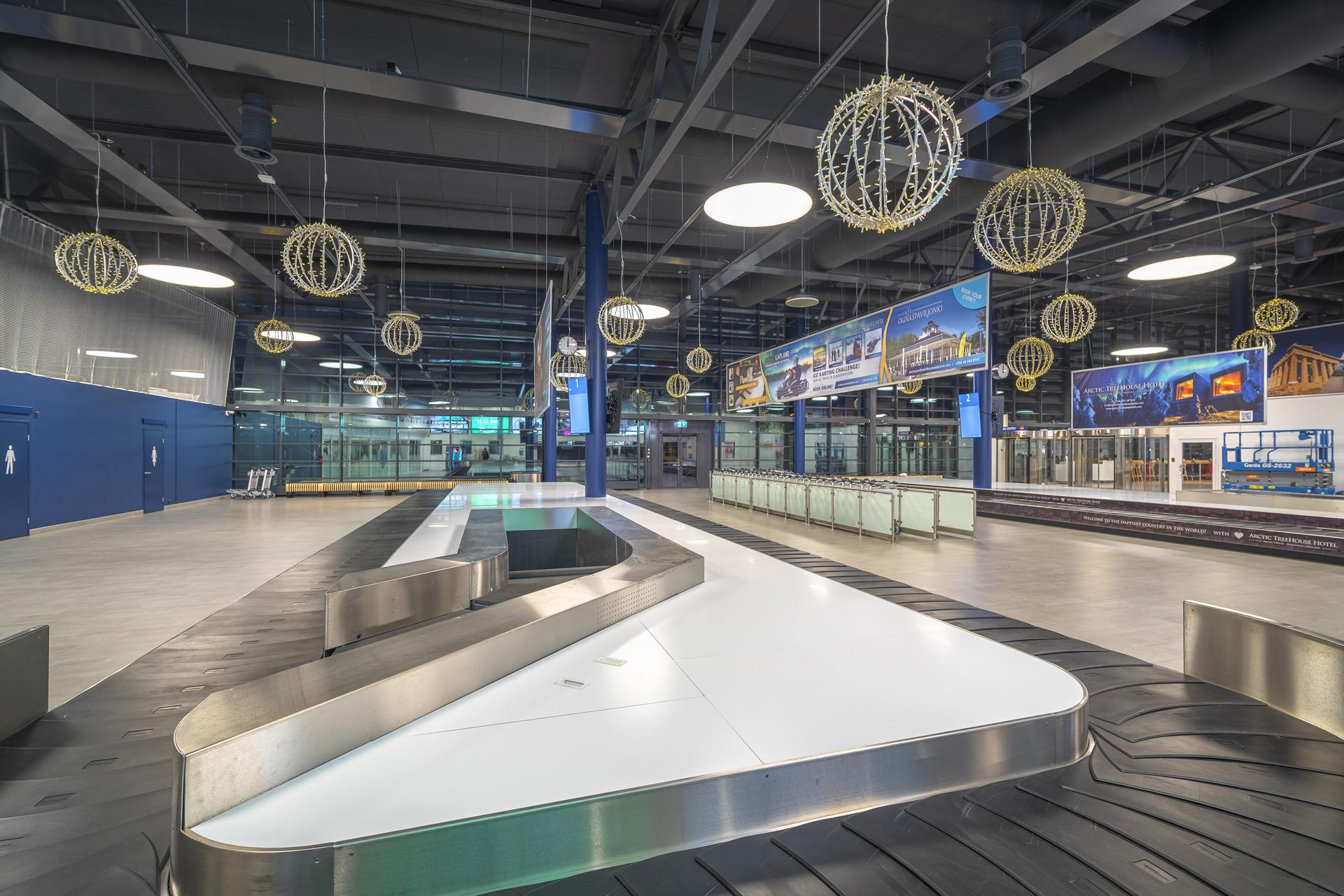 Rovaniemen lentoasema, sisänäkymä
