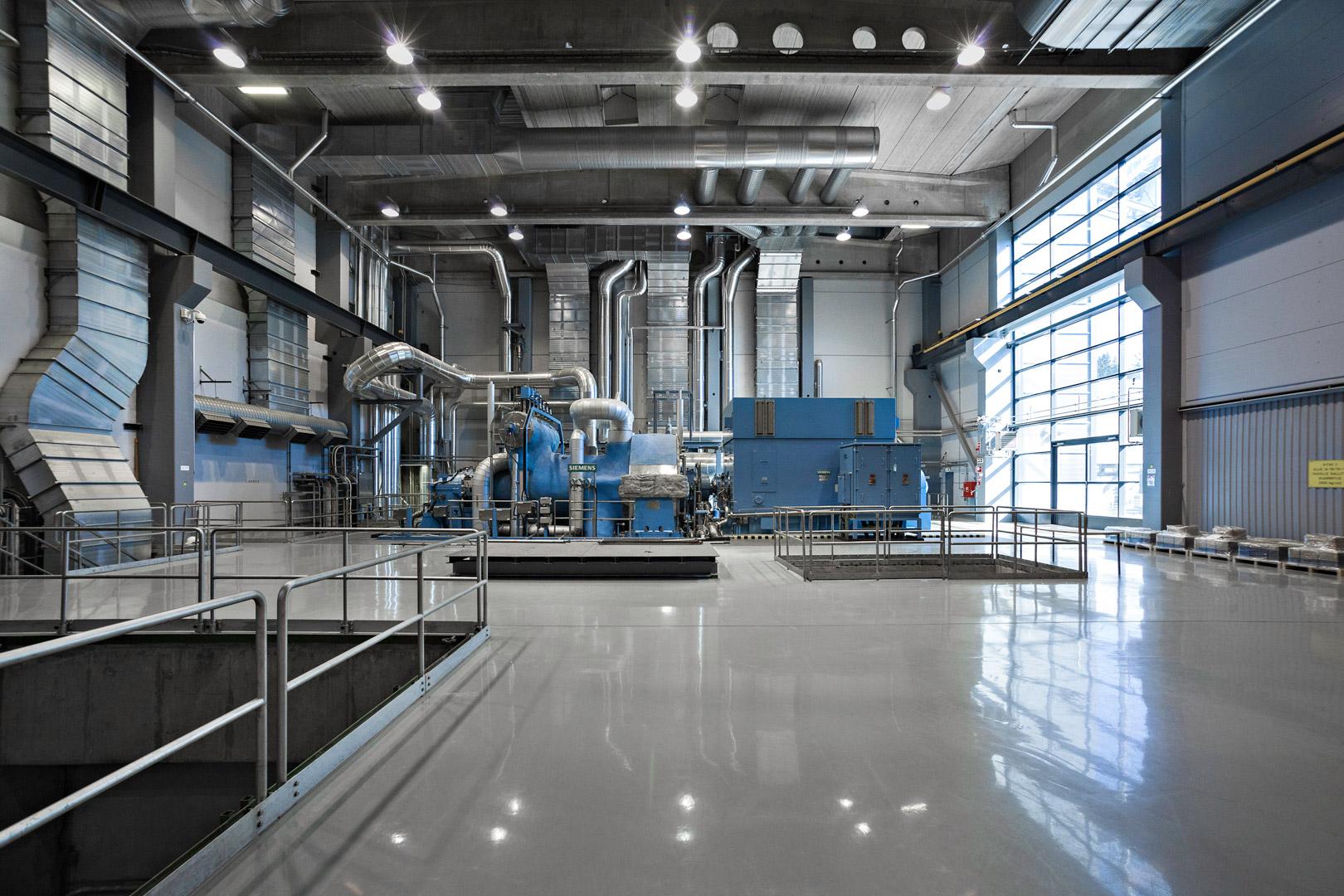 Lahti Energian kaasuvoimalaitos hallinäkymä