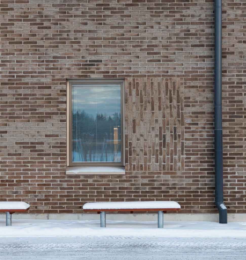 Kiiminginpuiston koulun julkisivudetalji